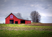 Farming Barns Prints - Four Corners Quilt Barn Print by Cricket Hackmann