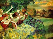 French Open Paintings - Four Dancers by Pg Reproductions