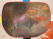 American Bison Originals - Four Directions by Ann Miller