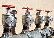 Balzac Photos - Four Emergency Water Valves by Trever Miller