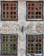 Frame House Photos - Four Front Windows by Antony McAulay