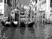 Stephen Conroy - Four Gondolas in Black...