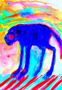 Serotonin Painting Posters - Four Legged Troll  Poster by Hilde Widerberg