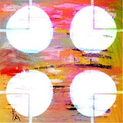 Interpretive Paintings - Four Moons Palette by PainterArtist FIN
