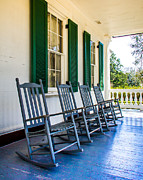 Four Porch Rockers Print by Perry Webster