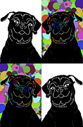 Chris Goulette - Four Pugs