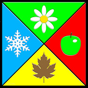 Snowflake Posters - Four Seasons Poster by Cristophers Dream Artistry