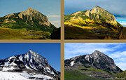 Mike Schmidt  Posters - Four Seasons of Mt. Crested Butte Poster by Mike Schmidt