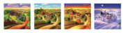 Landscape Prints Prints - Four Seasons on the Farm Print by Robin Moline