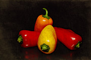 Healthy Originals - Four small peppers by Tommy Hammarsten
