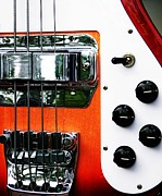Bass Bridge Prints - Four String Bass  Print by Chris Berry