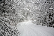 Snowstorm Photos - Four Wheel Winter by John Haldane