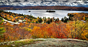 Adirondack Prints - Fourth Lake from Above Print by David Patterson