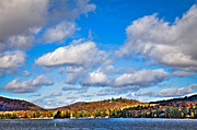 Fir Trees Photos - Fourth Lake in Inlet New York by David Patterson