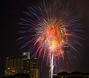 Tower Of The Americas Photos - Fourth of July by Cathy Alba