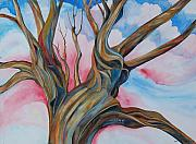 4th July Painting Originals - Fourth of July - the Happy Tree by Roy Erickson