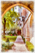 Patio Prints - Fourth Presbyterian - A Chicago sanctuary Print by Christine Till