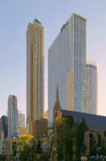 Skylines Art - Fourth Presbyterian Church Chicago by Christine Till