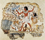 1400 Prints - Fowling In The Marshes. Ca. 1400 Bc Print by Everett