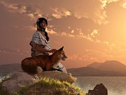 Nez Perce Prints - Fox Maiden Print by Daniel Eskridge