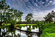 Fox River Prints - Fox River Bridge Print by Randy Scherkenbach