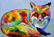 Animal Paintings - Fox by Sherry Shipley