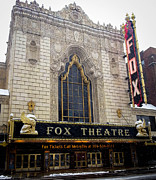 Lion Gargoyle Prints - Fox Theatre St. Louis Print by Cathy Smith