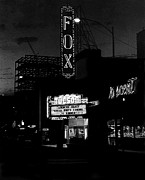 Burt Reynolds Framed Prints - Fox Tucson theater dusk 1967 Spencer Tracy Framed Print by David Lee Guss