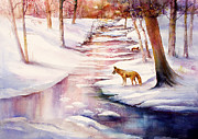 Patricia Schneider Mitchell - Foxes in Winter