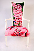 Gallery Tapestries - Textiles - Foxgloves - Art Chair by Backhouse Gallery