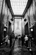Manhatten Framed Prints - Foyer Of The Empire State Building New York City Framed Print by Joe Fox