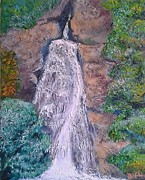 Waterfalls Paintings - Foyers Falls Inverness by Dawn Noble
