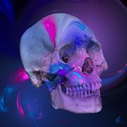 Fracskull 2 Print by Chris Thomas