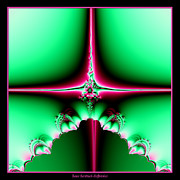 Birth Of Jesus Posters - Fractal 14 Star of Bethlehem  Poster by Rose Santuci-Sofranko