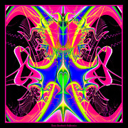 Fractal 15 Color Cacophony  Print by Rose Santuci-Sofranko