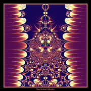 Bejeweled Posters - Fractal 18 Asian Influence  Poster by Rose Santuci-Sofranko