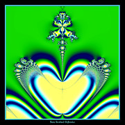 Little Green Men Digital Art - Fractal 27 Alien Love Hear no evil by Rose Santuci-Sofranko