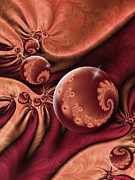 Red Wine Prints Prints - Fractal A Touch of Orient Print by Gabiw Art