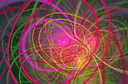 Energetic Metal Prints - Fractal - Abstract - Loopy Doopy Metal Print by Mike Savad