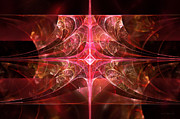 Ruby Framed Prints - Fractal - Abstract - The essecence of simplicity Framed Print by Mike Savad