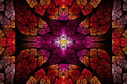 Savad Digital Art - Fractal - Aztec - The all seeing eye by Mike Savad