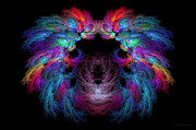 Hidden Face Digital Art - Fractal - Christ - Angels Wings by Mike Savad