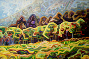 Abstracted Landscape Paintings - Fractal fall by Dale Beckman