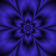 Colin  Forrest - Fractal Flower in Blue