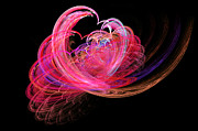 Savad Digital Art - Fractal - Heart - Lets be friends by Mike Savad