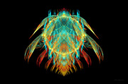 Fire Digital Art - Fractal - Insect - I found it in my cereal by Mike Savad