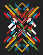 Geometric Digital Art Prints - Fractal Pattern Print by Budi Satria Kwan
