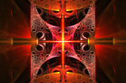Energetic Acrylic Prints - Fractal - Science - Cold Fusion Acrylic Print by Mike Savad