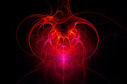 Valentines Digital Art Posters - Fractal - Science - The neural network Poster by Mike Savad