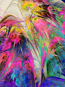 Savad Digital Art - Fractal - Tropical Flowers by Susan Savad